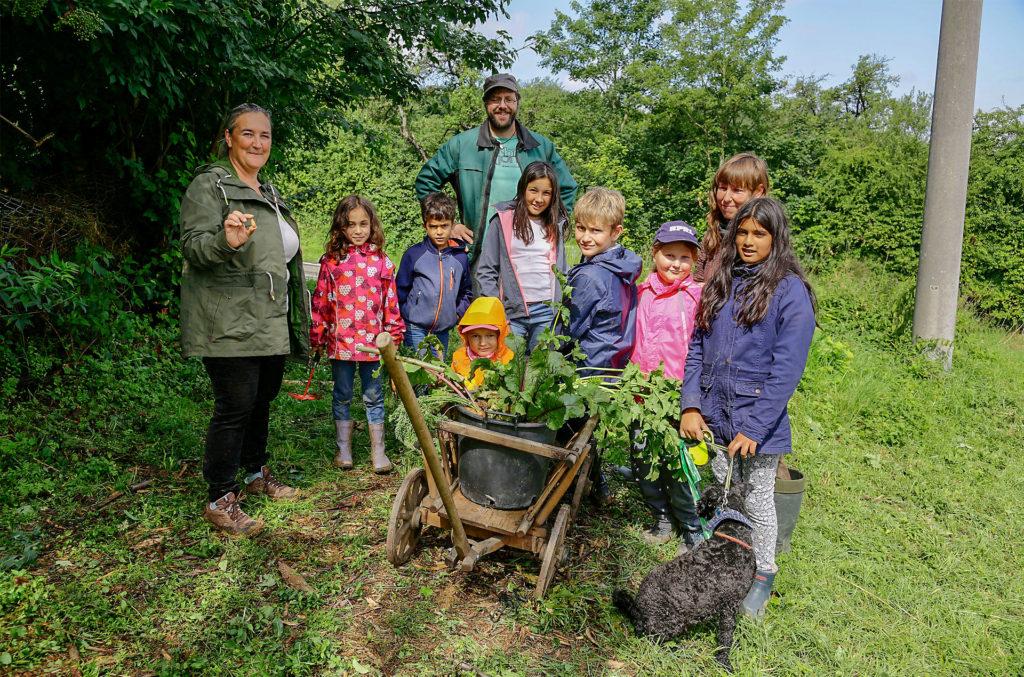 Aktivhof Oelsberg - Ferienprojektwoche 2018 - Ernte für das Essen