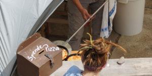 Aktivhoffest-Pizzastand